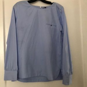 Blue J Crew blouse